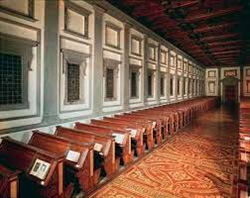 The reading room benches